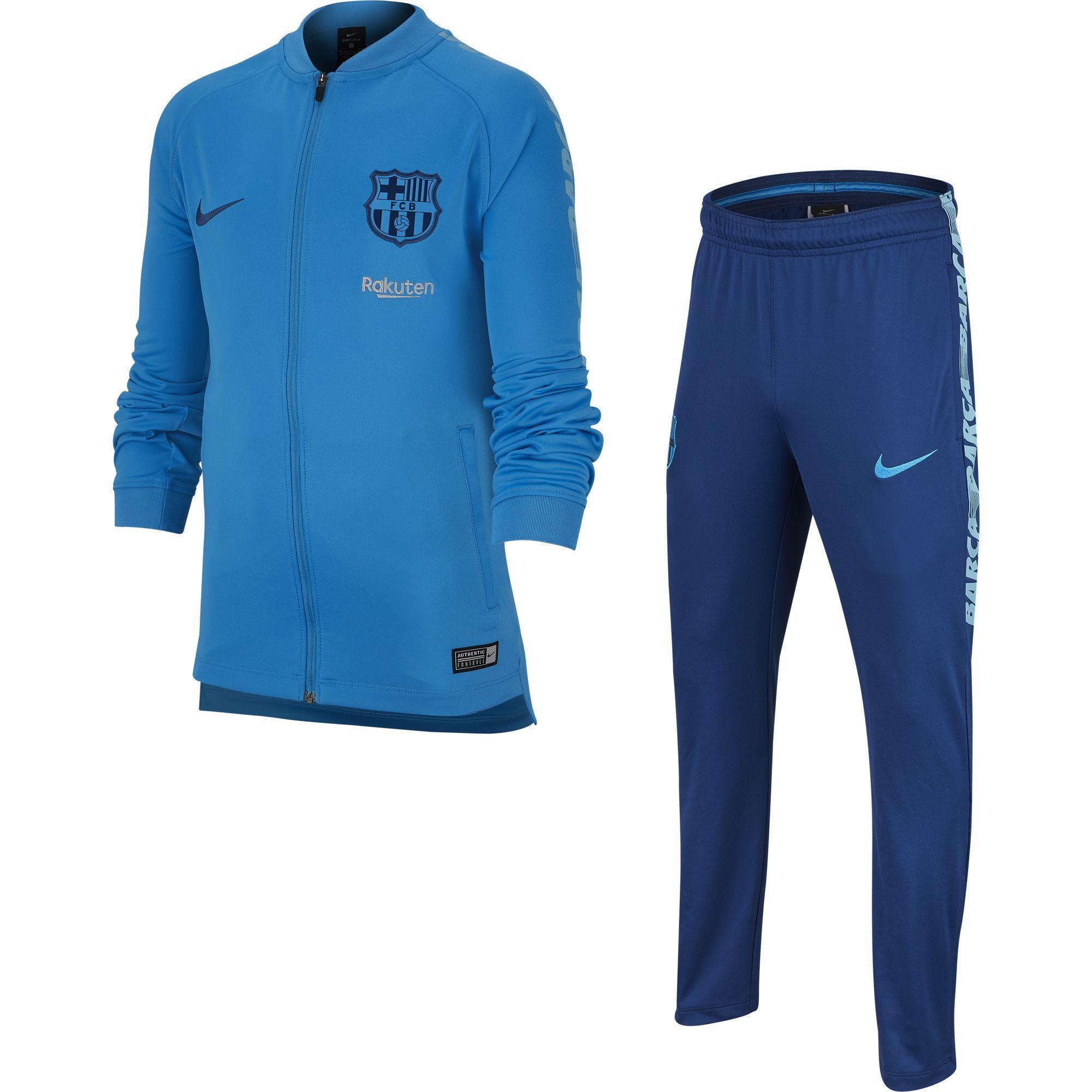 9201507ed Nike Tracksuit Barcelona Junior Equator Blue vivid Sky coastal Blue ...