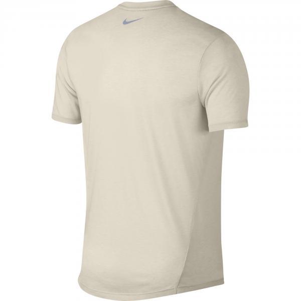Nike T-shirt Breathe Rise 365 Beige Tifoshop