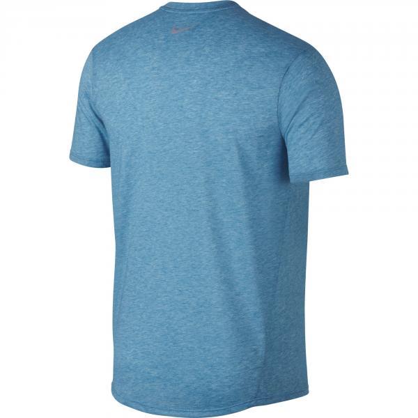 Nike T-shirt Breathe Rise 365 Azzurro Tifoshop
