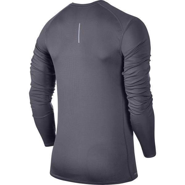 Nike Maglia Miler Long Sleeve Grigio Tifoshop