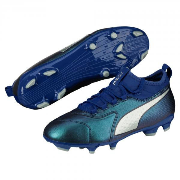 Puma Scarpe Calcio One 3 Lth Fg  Junior Blu