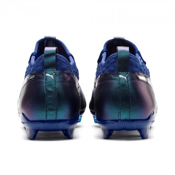 Puma Fußball-schuhe One 2 Lth Fg Blue-Silver-Peacoat Tifoshop