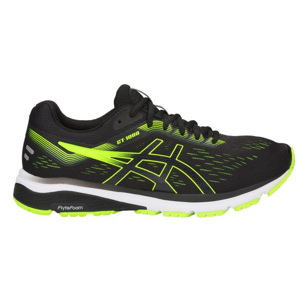 Asics Chaussures Gt-1000 7 BLACK/HAZARD GREEN