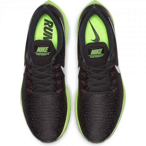 Nike Scarpe Air Zoom Pegasus 35 Nero Lime Tifoshop