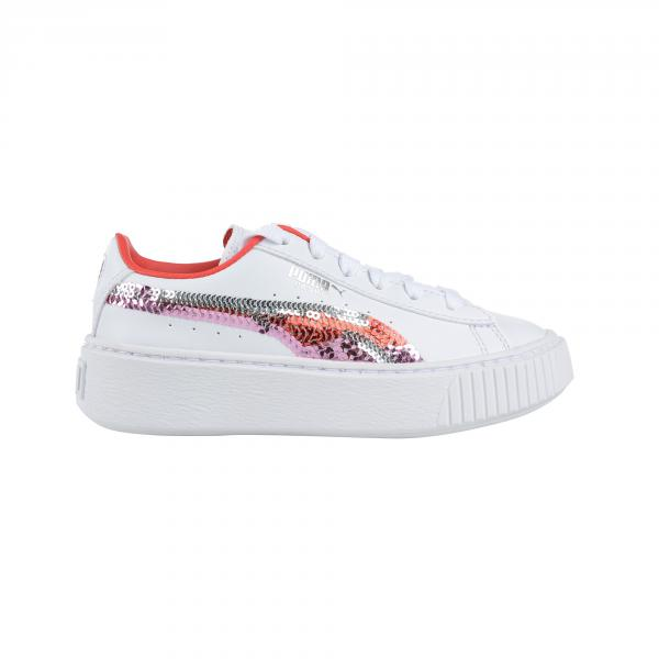 Puma Scarpe Basket Platform Trailblazer Sqn Ps  Junior Bianco