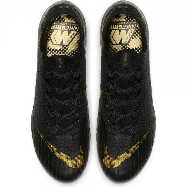 7fcbf10a810 ... Nike Football Shoes Superfly 6 Elite Fg BLACK MTLC VIVID GOLD Tifoshop  ...