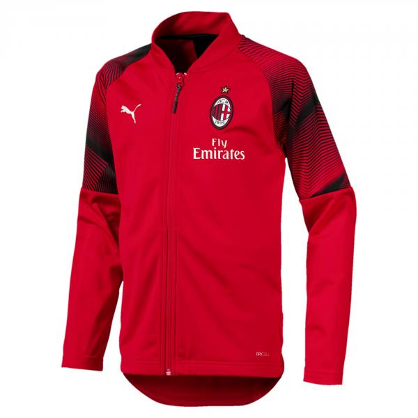 Puma Felpa Prematch Milan Junior  18/19 Rosso