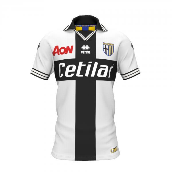 Errea Maglia Gara Home Parma   18/19 Bianco Nero