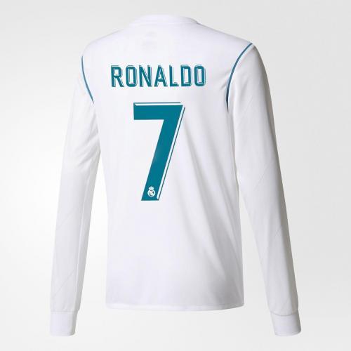 Adidas Maglia Gara Con Personalizzazione Ronaldo Real Madrid Junior  17/18