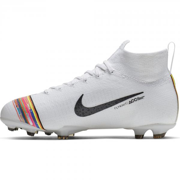 Nike Scarpe Calcio Superfly 6 Elite Cr7 Fg  Junior Cristiano Ronaldo Bianco Tifoshop