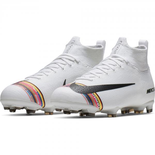 Nike Fußball-schuhe Superfly 6 Elite Cr7 Fg  Juniormode Cristiano Ronaldo White/Black Tifoshop