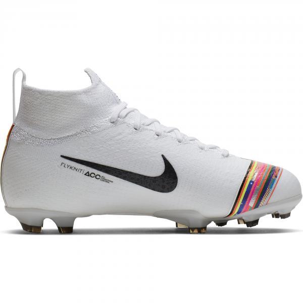 Nike Scarpe Calcio Superfly 6 Elite Cr7 Fg  Junior Cristiano Ronaldo Bianco