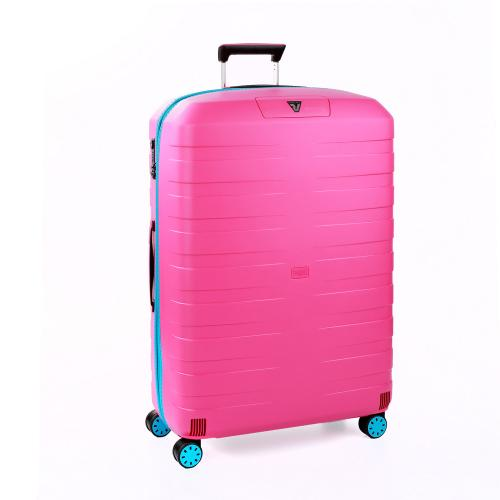 LARGE LUGGAGE  LIGHT BLUE/PINK