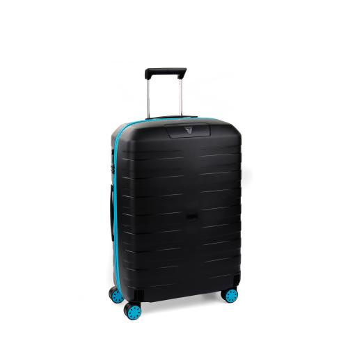 MEDIUM LUGGAGE  LIGHT BLUE/BLACK