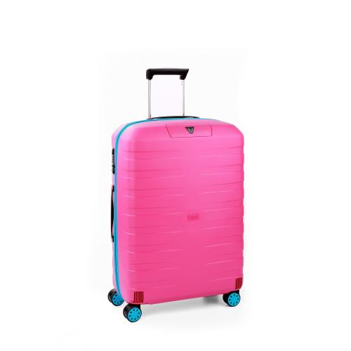 MEDIUM LUGGAGE  LIGHT BLUE/PINK