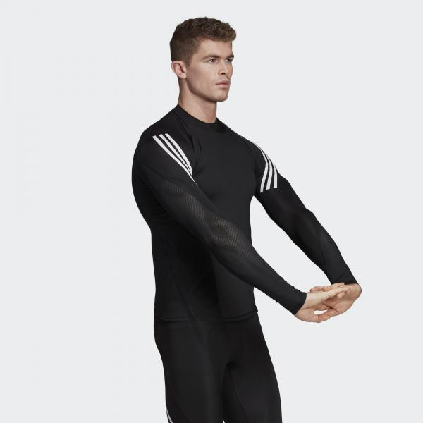 Adidas Maglia Alphaskin Sport+ 3-stripes    2019 Nero Tifoshop