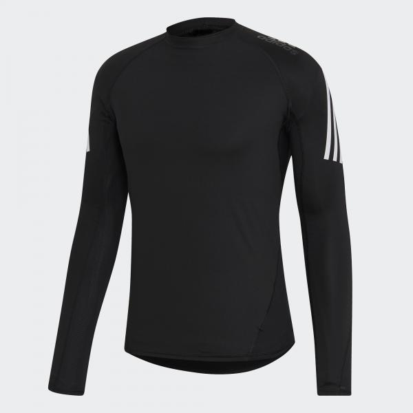 Adidas Maglia Alphaskin Sport+ 3-stripes    2019 Nero