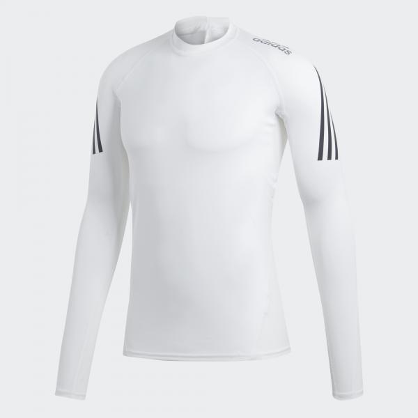Adidas Maglia Alphaskin Sport+ 3-stripes    2019 Bianco