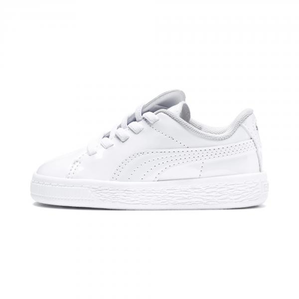Puma Scarpe Basket Crush Patent Ac  Junior Bianco Tifoshop