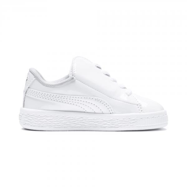 Puma Scarpe Basket Crush Patent Ac  Junior Bianco