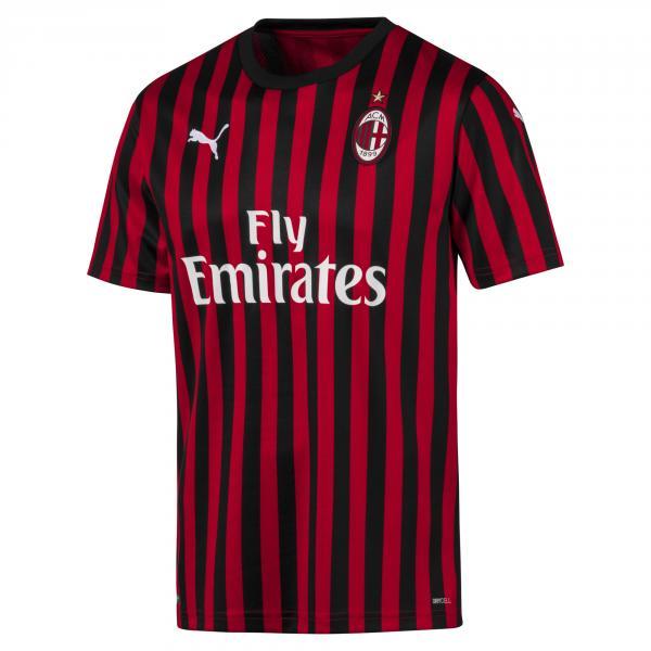 Puma Maglia Gara Home Milan   19/20 Rosso Nero
