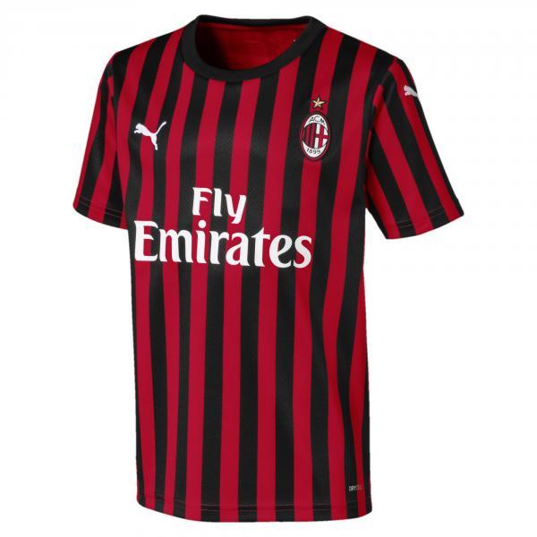 Puma Maglia Gara Home Milan Junior  19/20 Rosso Nero