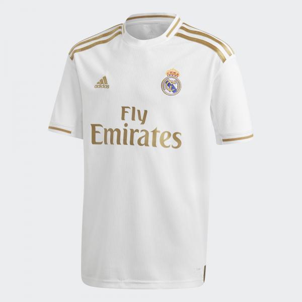 Adidas Maglia Gara Home Real Madrid Junior  19/20 Bianco