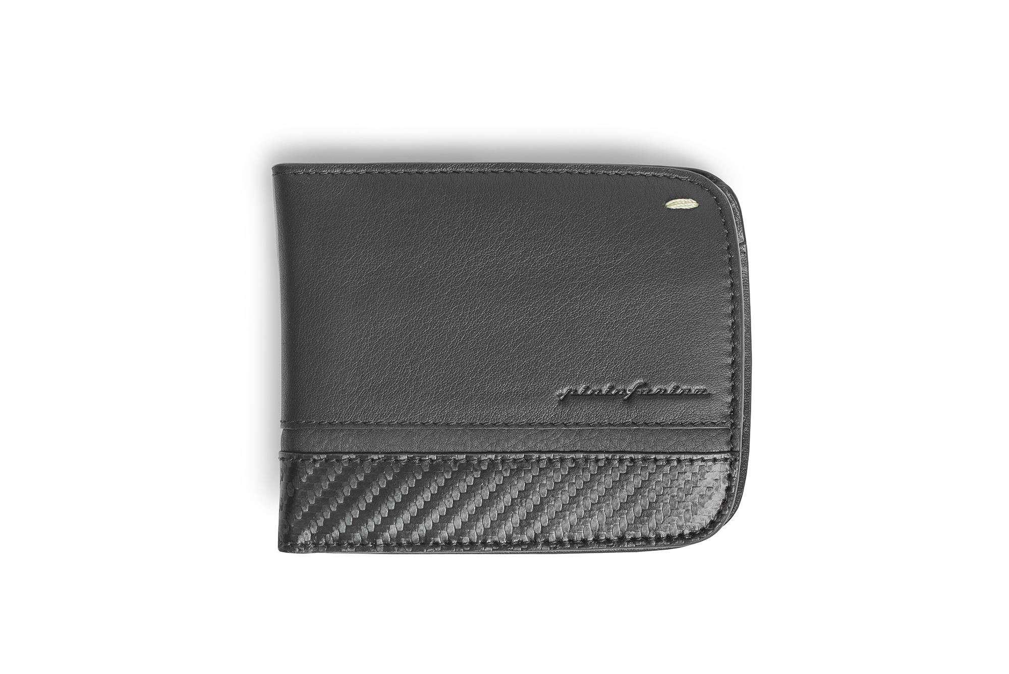 Wallet 6 Cards And Coins Folio By Pininfarina Carbon