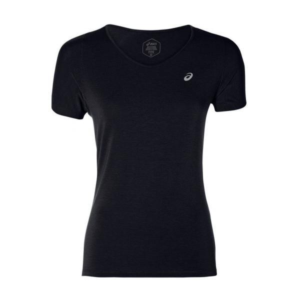 Asics T-shirt V-neck  Donna Nero