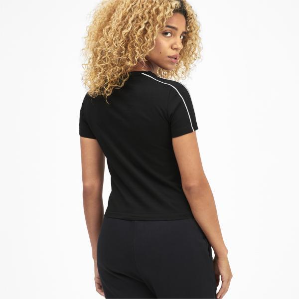 Puma T-shirt Classics Tight  Donna Nero Tifoshop