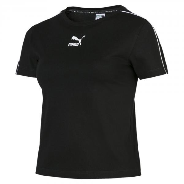 Puma T-shirt Classics Tight  Donna Nero