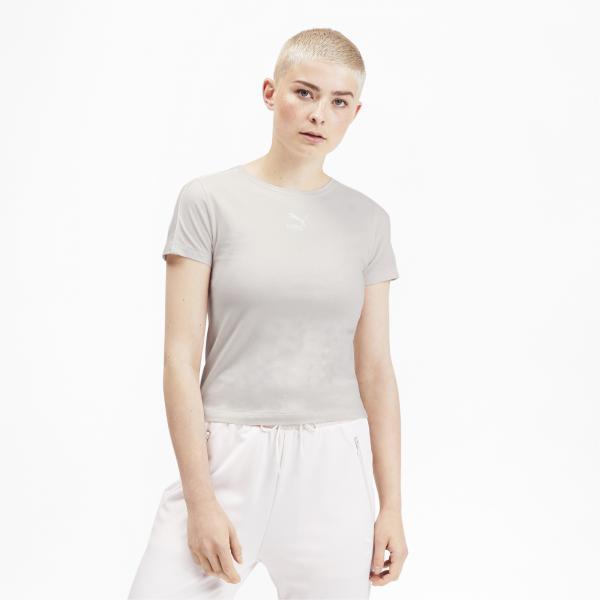 Puma T-shirt Classics Tight  Donna Rosa Tifoshop