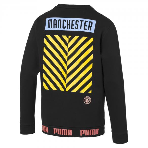 Puma Felpa  Manchester City   19/20 Nero Tifoshop