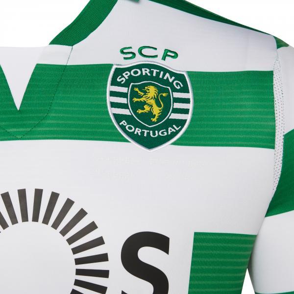 Macron Maglia Gara Home Sporting Lisbona   19/20 Bianco/Verde Tifoshop