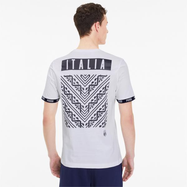Puma T-shirt Ftblculture Italia Bianco Tifoshop