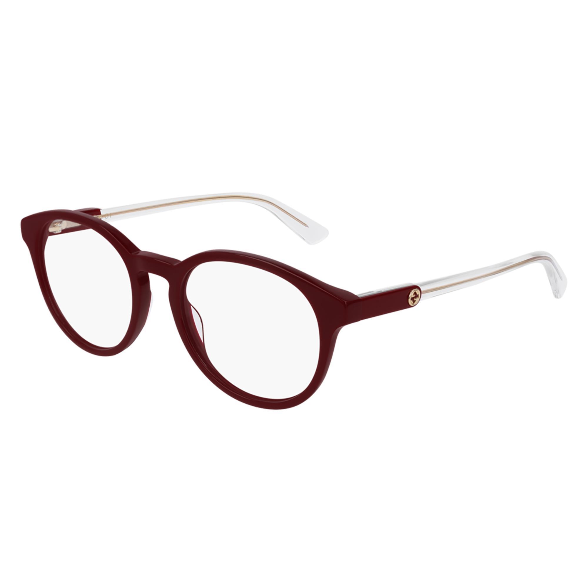 Wählen Sie für authentisch Talsohle Preis das Neueste Brillen Damen Gucci 004 Burgundy Burgundy Tra | Blitzforeyes