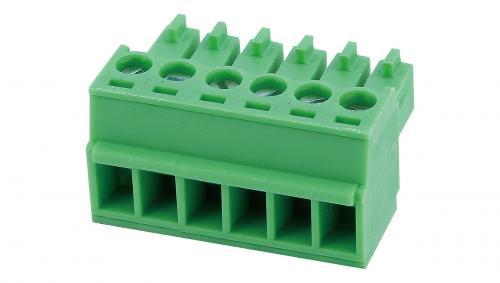 Pluggable screw terminal blocks 15EGTK-3,81-06P-14-00AH