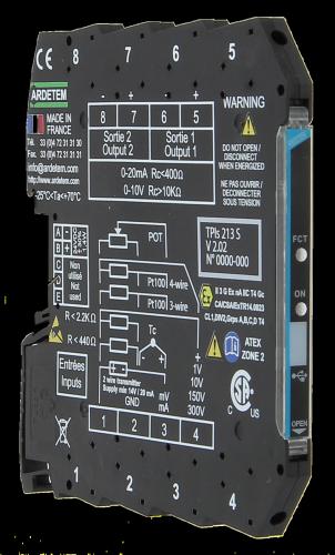 Convertors slim serie 7,2mm – 6,2mm TPIs213S PT100