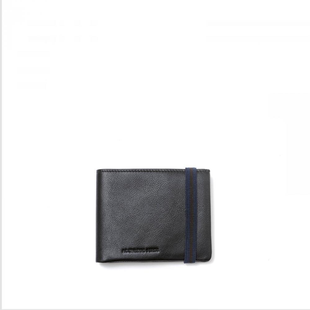 Spalding /& Bros Black Large A.G Leather Card Holder