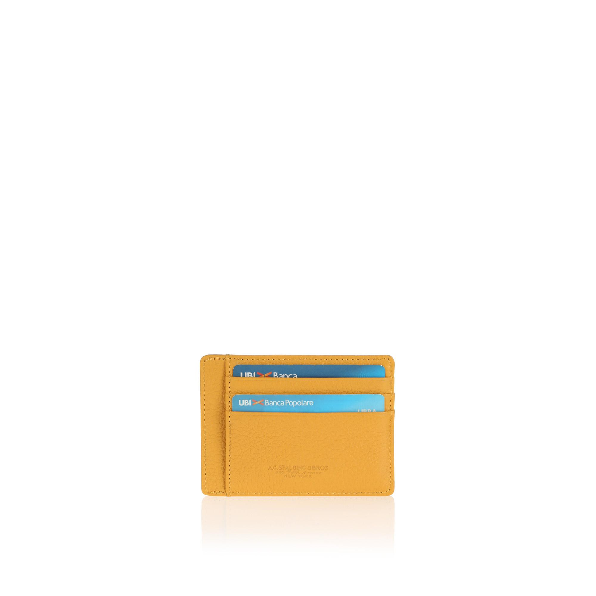 Century Small Credit Card Holder yellow