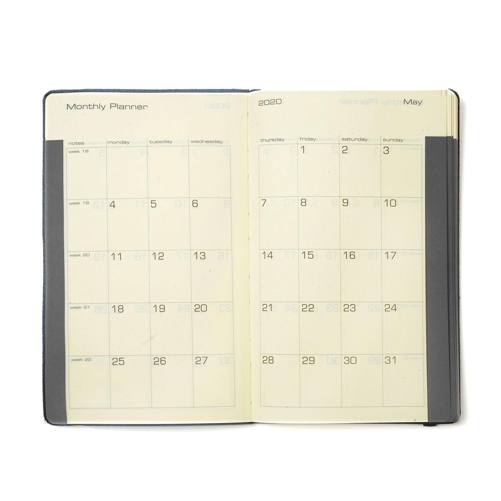 Diary 2021 Settimanale-note 13x21 Rosso