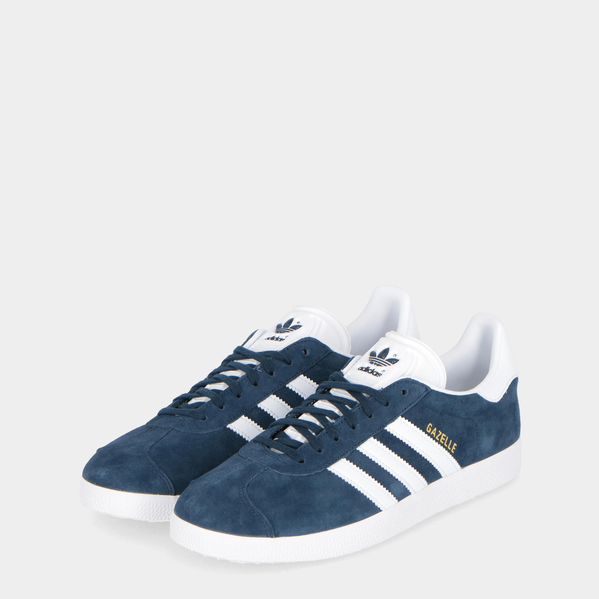 Adidas Gazelle Navy white gold