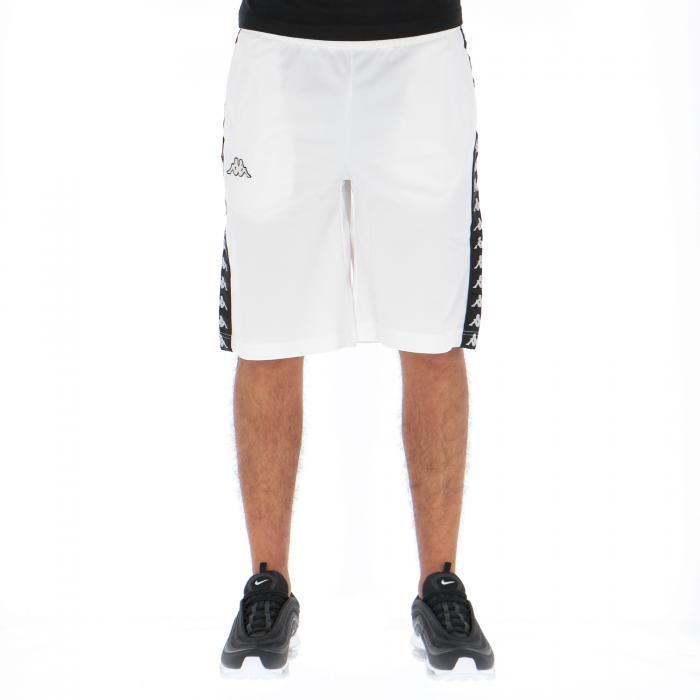 kappa shorts white black