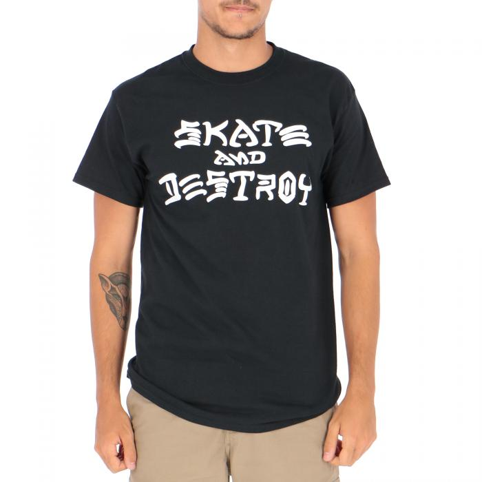 thrasher t-shirt e canotte black