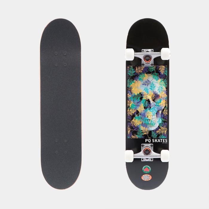 pq skateboard skully forest