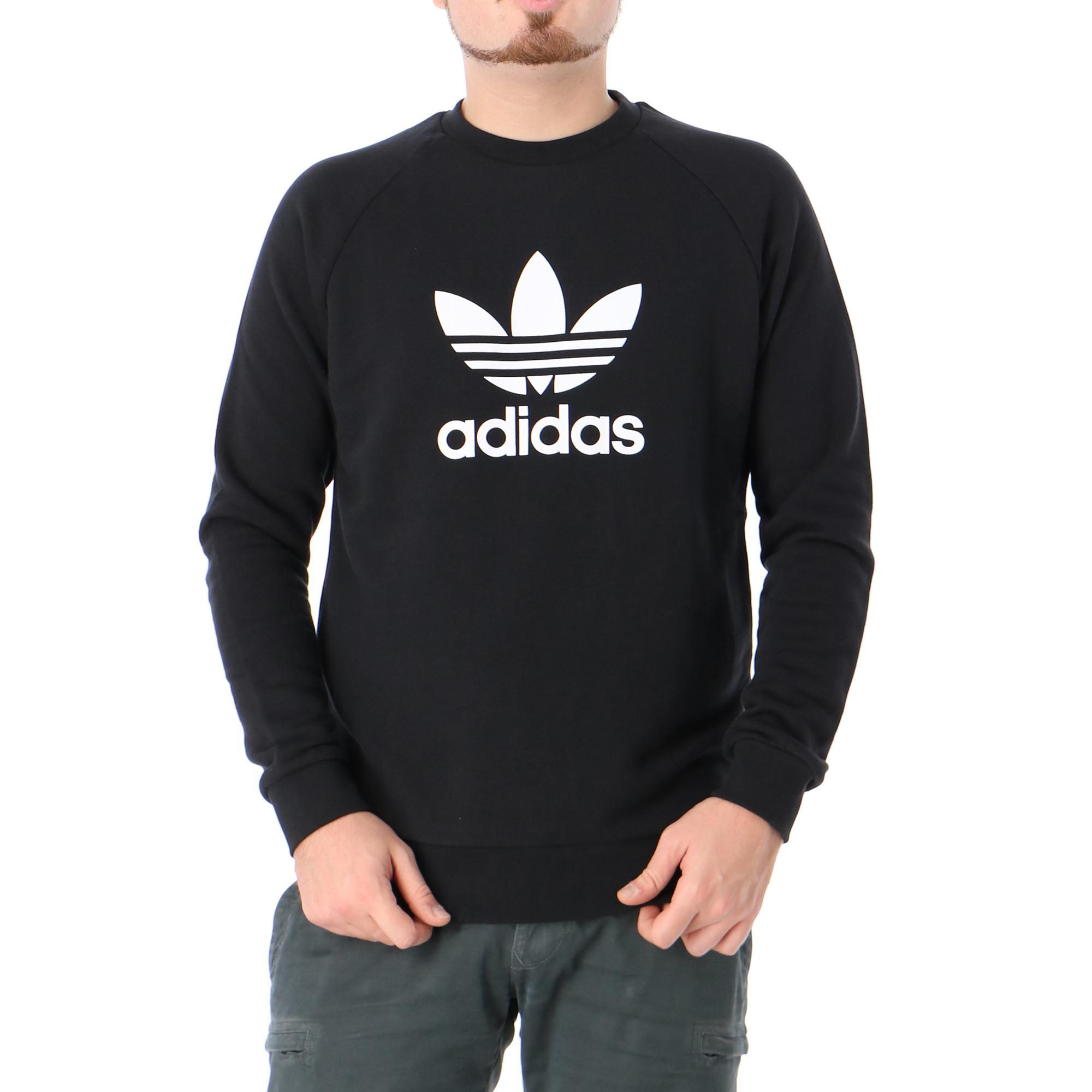 Adidas Trefoil Warm Up Crew <br/> Black