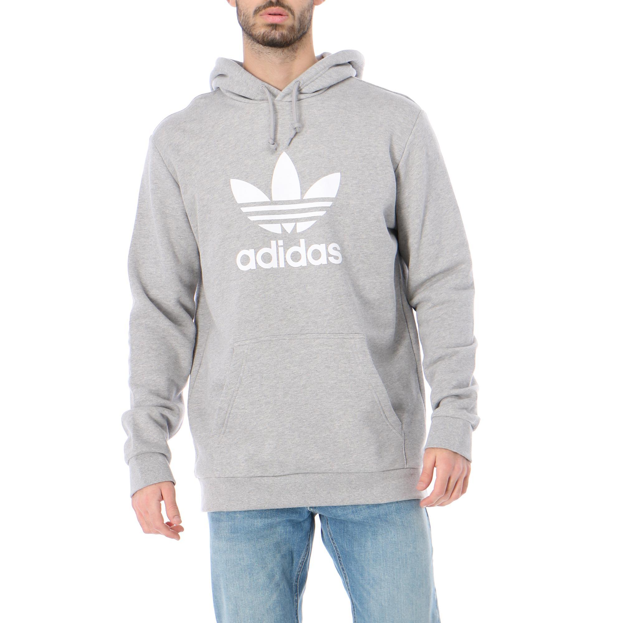 Adidas Trefoil Hoodie Medium grey heather