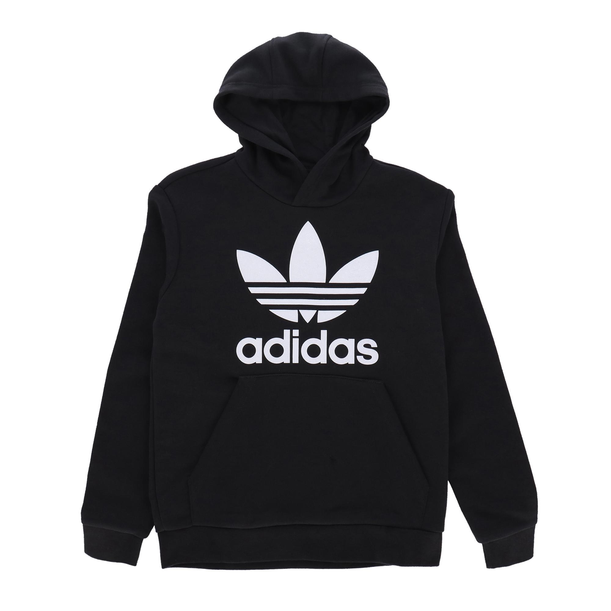 Adidas Trefoil Hoodie Black white