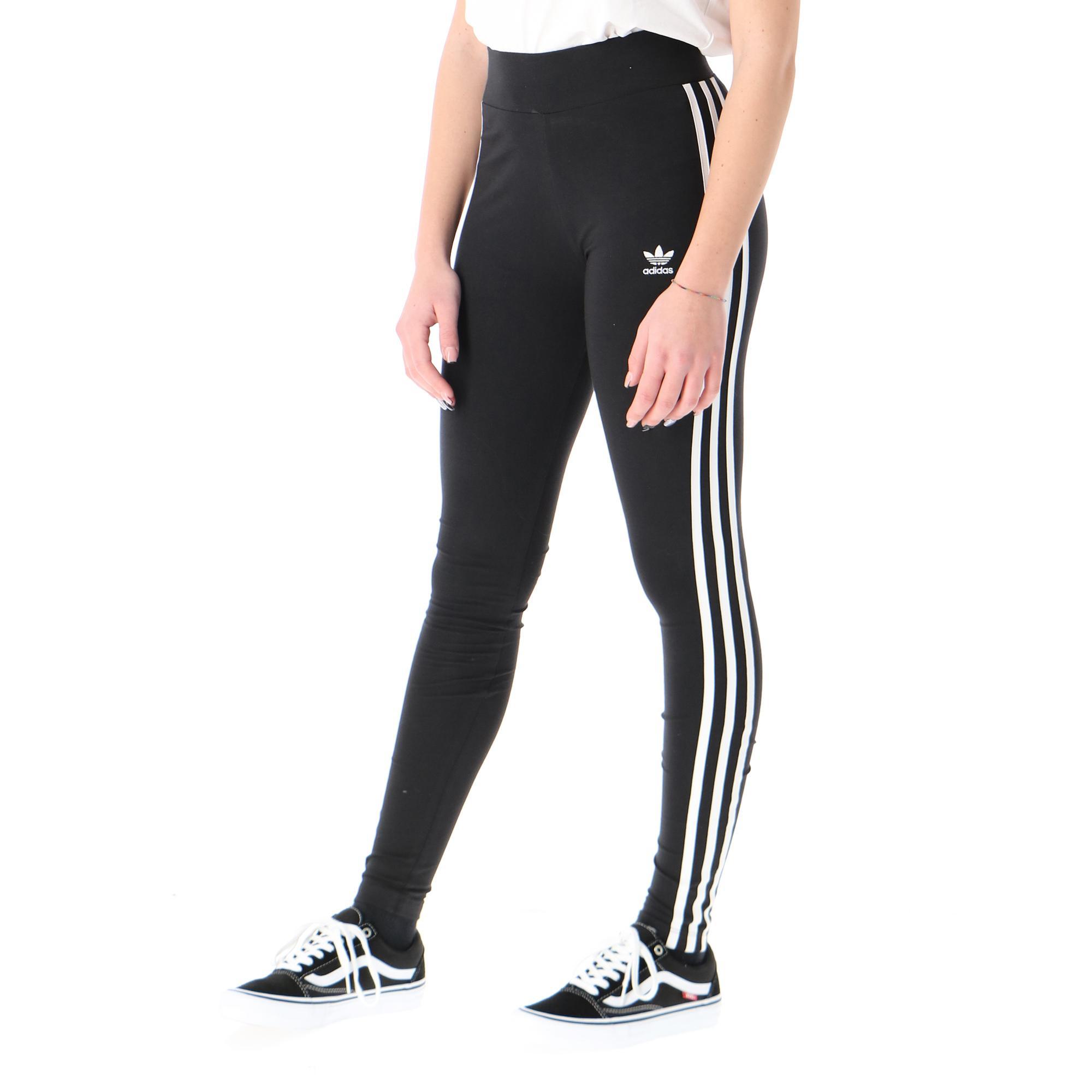 Adidas 3 Stripes Tight Black white