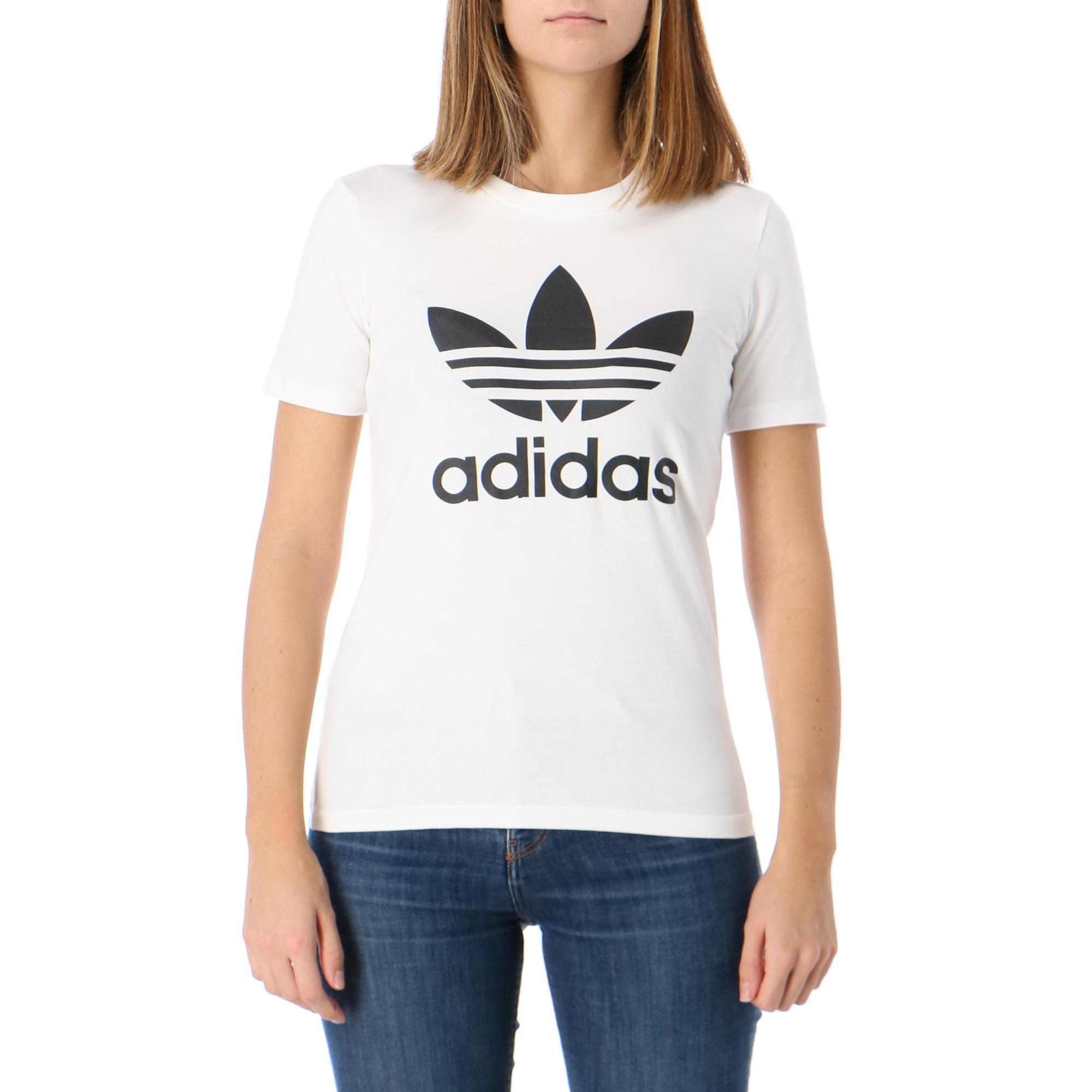 Adidas Trefoil Tee White black
